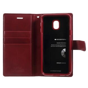 MERCURY GOOSPERY Blue Moon Case for Samsung Galaxy J3 2017 Wine Red