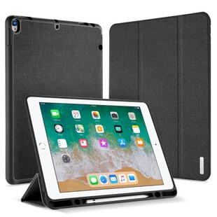 DUX DUCIS Domo Series Tri-fold Case for iPad Pro 12.9 2017 with Pen Slot Black