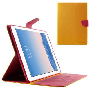 "Mercury Goospery Fancy Diary Case for iPad Pro 9.7"" - Yellow/Red"
