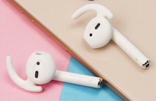 Silicone Ear Hooks Set for Apple AirPods - White
