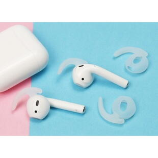 Silicone Ear Hooks Set for Apple AirPods - Transparent