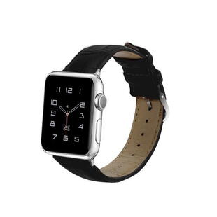 Apple Watch 42mm og 44mm PU Leather Band Black