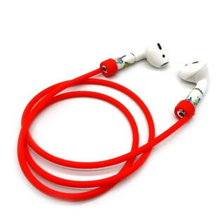 Silicone Rope Strap for Apple AirPods Red