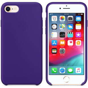 Hard Silicone Case for iPhone 7/8 Purple