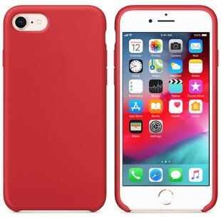 Hard Silicone Case for iPhone 7/8 Red