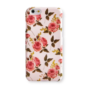 Flower Hard Case with Roses for iPhone XR Pink