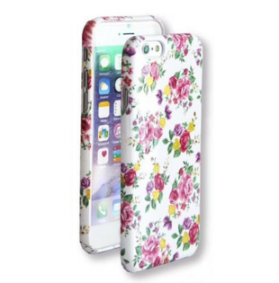 Flower Hard Case with Roses for iPhone 6/6S White