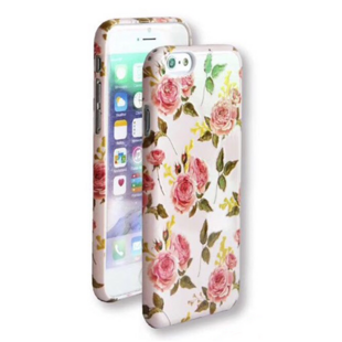 Flower Hard Case with Roses for iPhone 6 Plus/6S Plus Pink