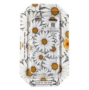 Flower Hard Case with Daisies for iPhone XR White/Yellow