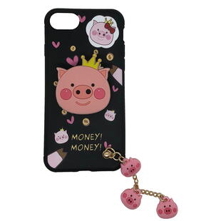 iPhone 7/8 TPU Case with motif of a pink pig