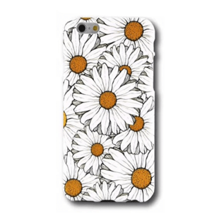 Flower Hard Case with Daisies for iPhone 6 Plus/6S Plus White/Yellow