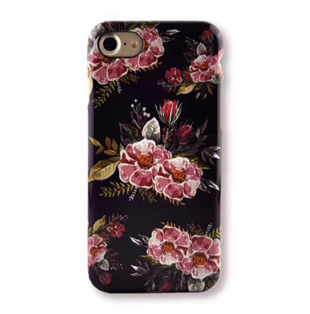 Flower Hard Case with Ice Flowers for iPhone 6 Plus/6S Plus Purple