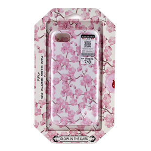 Flower Hard Case with Cherry Blossoms for iPhone 7/8 Pink