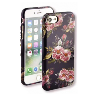 Flower Hard Case with Ice Flowers for iPhone 7 Plus/8 Plus Purple