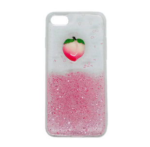 iPhone 7/8 Peach Shape Soft TPU Case Pink