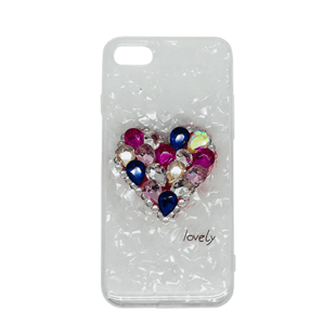 iPhone 7/8 Diamond Heart Soft TPU Case Multicolour