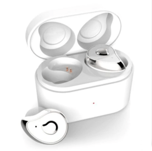 True Wireless Bluetooth Headset for Android/iOS in White/Silver