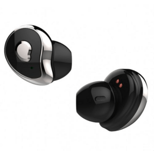 True Wireless Bluetooth Headset for Android/iOS in Black/Silver
