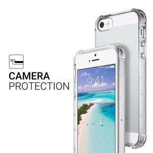 Shock Absorption TPU Cover for iPhone 5/5S/SE - Transparent