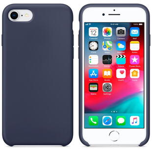 Hard Silicone Case for iPhone 7/8 Dark Blue