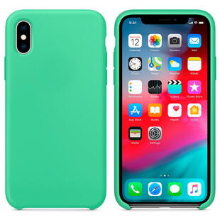 Hard Silicone Case for iPhone X/XS Mint