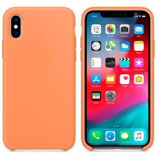 Hard Silicone Case for iPhone X/XS Orange