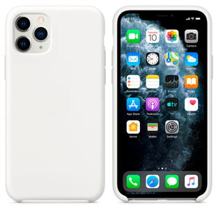 Hard Silicone Case for iPhone 11 Pro White