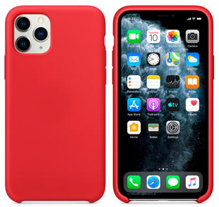 Hard Silicone Case for iPhone 11 Pro Red