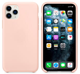 Hard Silicone Case for iPhone 11 Pro Pink Sand