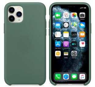 Hard Silicone Case for iPhone 11 Pro Green