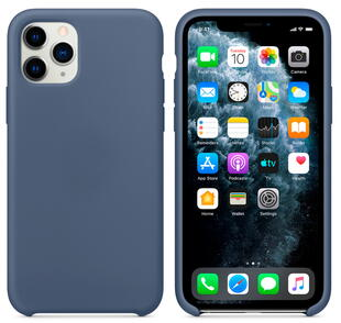 Hard Silicone Case for iPhone 11 Pro Blue