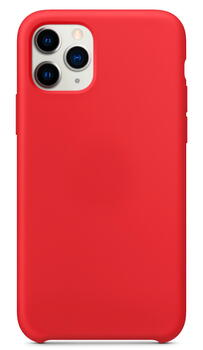 Hard Silicone Case for iPhone 11 Pro Max Red