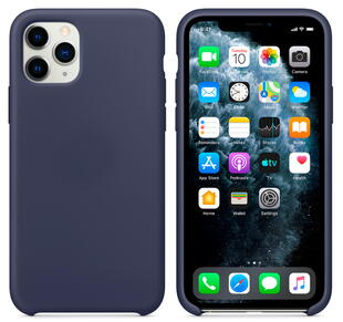 Hard Silicone Case for iPhone 11 Pro Max Dark Blue