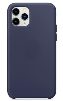 Hard Silicone Case for iPhone 11 Dark Blue