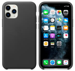 Real Leather Case for iPhone 11 Black