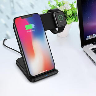 Wireless Fast Charger 2-in-1 Black
