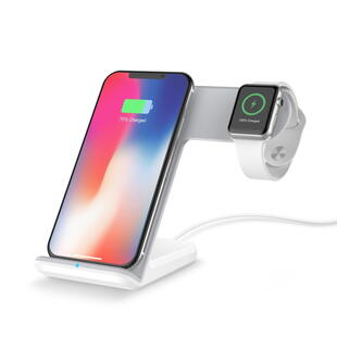 Wireless Fast Charger 2-in-1 White