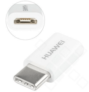 Huawei Adapter microUSB - USB-C White