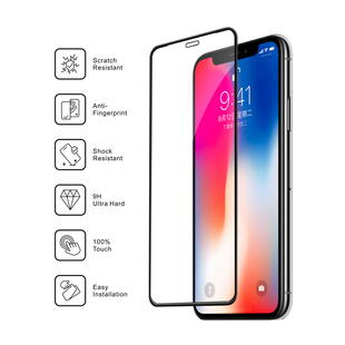 Nordic Shield Apple iPhone X/XS/11 Pro Full Cover Silicon Edge Screen Protector (Bulk)