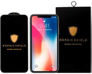 Nordic Shield Apple iPhone XS Max/11 Pro Max Full Cover Silicon Edge Screen Protector (Blister)