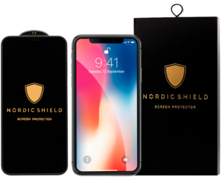 Nordic Shield Apple iPhone X/XS/11 Pro Full Cover Silicon Edge Screen Protector (Blister)