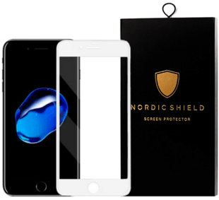 Nordic Shield Apple iPhone 6/6S 3D Curved Screen Protector White (Blister)