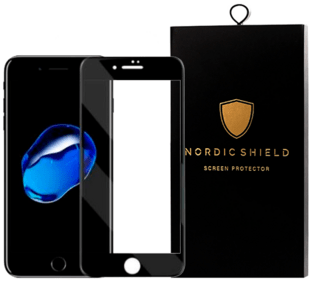 Nordic Shield Apple iPhone 6/6S 3D Curved Screen Protector Black (Blister)