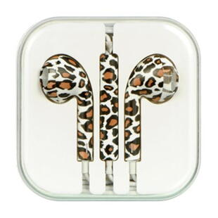In-Ear Headset with remote/mic Leopard White