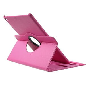 iPad Pro 10.5-inch (2017) Litchi Grain Leather Cover with 360 Degree Rotary Stand - Rose