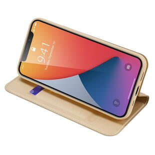 DUX DUCIS Skin Pro Flip Case for iPhone 12/12 Pro Gold