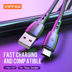 VIPFAN CB-X5 USB-C Cable (1m.) Black Blister