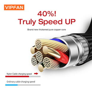 VIPFAN CB-A1 Lightning Cable (1,2m.) Blister