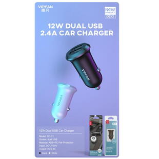 VIPFAN DC-C1 Car Charger Black