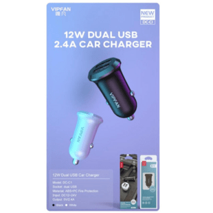 VIPFAN DC-C1 Car Charger White